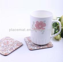 Eco-friendly MDF Cork Paper Coaster