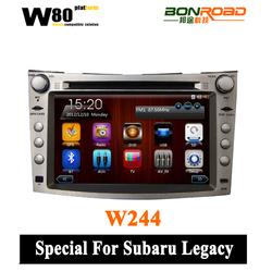 W80 platform DVD Car For Subaru Legacy Outback 2006 2010 Audio DVR 3G Camera SD GPS Navigation Stereo PC Multimedia