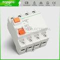 Interruptor eléctrico tord1-63 4p, 63 amp, un interruptor diferencial grado( tongou fabricación)