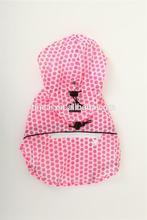 Fashion Pink dog raincoats