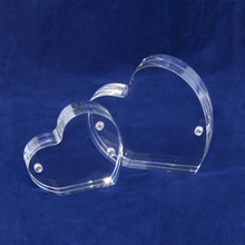 Mini Acrylic Clear Manetic Heart Shape Picture Frame Display Plastic Customized Desk Picture Frame