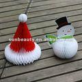 En forma de panal de papá noel y muñeco de nieve de navidad venta al por mayor fuentes del arte