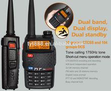 TYT TH-UVF8D 100 mile walkie talkie dual band 5W CTCSS/DCS/COMP/scrambler/DTMF