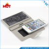 Mobile phone case for phone with a solar battery phone filp leather case