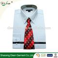 2014 nueva moda camisas lisas para con los hombres de corbata