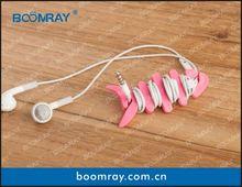 Útil e bonito cabo conector de fone de ouvido pode ser usado como presentes / artesanato / vestuário / do telefone móvel