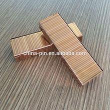 copper coated 3215 staple for carton closing