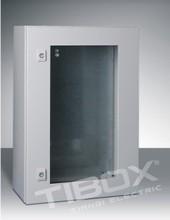 TIBOX Plexiglass Door Wall Mount Enclosure , IP66,Sheet steel.waterproof