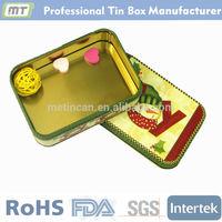 metal rectangular gift box christmas biscuit tin box , biscuit tin box