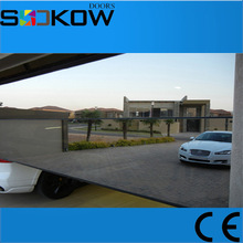 5mm tempered mirror glass fold up garage door