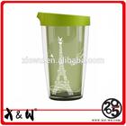 hot sale plastic travel mug for lovers