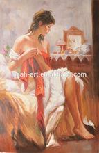 100%Handpainted Sex Woman Oil Painting