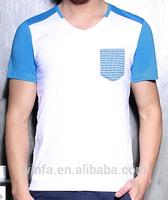 dry fit men short sleeve custom t shirt with pocket