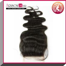 china wholesaler lace closure bleached knots