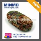Mingmou Retro style flora print fabric metal sunglasses case