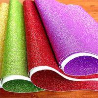 artificial glitter paper flowers