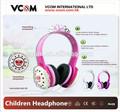 china atacado bonito dos desenhos animados fones de ouvido para meninas