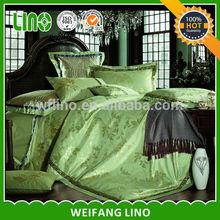 wholesale jacquard satin comfoter set/silk feeling bedsheet/cotton quilt throw