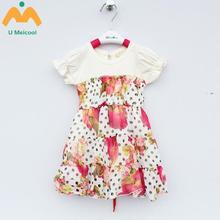 New Children's Clothing Han Edition Chiffon Dress Summer Children's Princess Skirt Of The Girls A08 Children Dance Dress With Sh