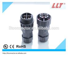 LLT 4 pole bulkhead waterproof connector