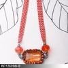 Wedding new design handmade elegant red stone walmart jewelry