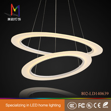 luxurious double layer decorative LED ceiling lamp for hall/hotel