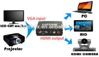 VGA to HDMI Converter Box (VGA video + 2RCA Audio In, HDMI Out)