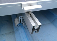 pitched solar panel mounting bracket for tile roof system