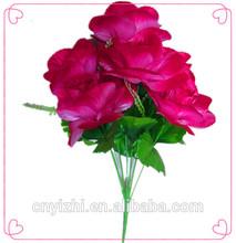 New design 7 heads Artificial flowers/fabric flowers wholesale/artificial flowers long stem