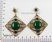 Handmade Green Dangle Earring Costume Earring