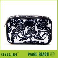 Royal Tea Double Zip Organizer Cosmetic Bag/Promotional cosmetic bag/party bag