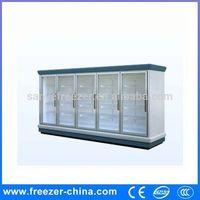 Glass door instant beverage cooler/commercial refrigerator