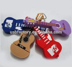 Unique Stock Guitar Shapes USB Flash Drives, Different guitar usb keys, novelty deisgn guitar gift usb flash dirve 8GB