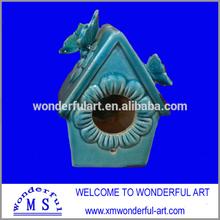 2014 new design ceramic bird cage/house