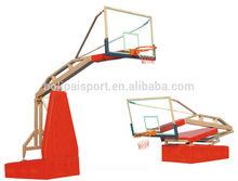 Indoor portable height adjustable basketball hoop