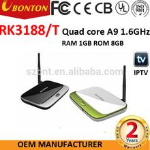 Enjoy internet life!! RK3188 Android 4.2 Smart tv stick 2GB/8GB Quad Core Remote Control Mini PC Android TV Box