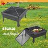 "30"" square steel bbq fire pit/steel firepit heater/bbq firepit"