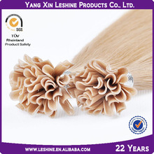 High quality 100% human remy no tangle keratin nail tip double drawn non-remy hair