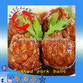 Carne de porco 2015 preço/deliciosa carne de porco enlatada bolas