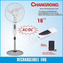 rechargeable fan 16 inch stand/fan with battery with DC fan