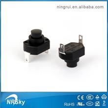 2014 mini 2 pin black Kan-9 momentary tact push button switches