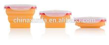 silicone storage box,FDA / LFGB grade ,Collapsible container