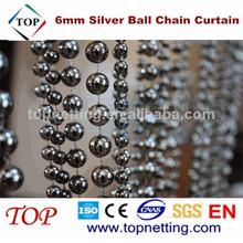 6mm Coated Beautiful Metal Bead Curtain Decorative Mesh