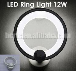 High lumen ultra bright LED ring light 12W round wall lamp modern design for home lighting 190mm