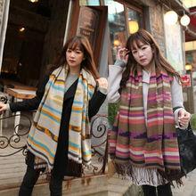 new design lady winter cashmere scarf /lady scarf pashmina /stripe lady scarf