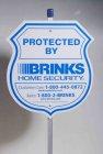 Plastic custom printed advertising yard sign, advertising rotating sign, security yard signs