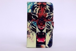 Animel printer mobile phone leather case for samsung galaxy s4 9500