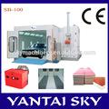 Yantai céu de máquinas de alta qualidade e certificação ce sb-100 areia cabine de jateamento