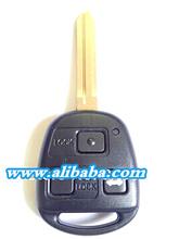 3 hole car key case blank for toyota carola car key replacement