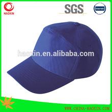 100% cotton headwear 7panel headwear royal blue headwear